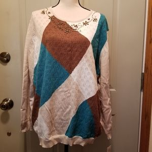 NWT Alfred Dunner womens plus size 3X sweater